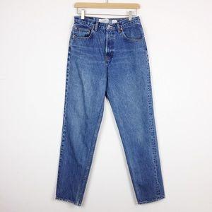 Vintage high rise mom jeans tapered leg med wash